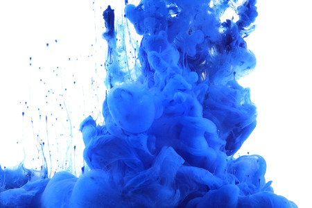 ink in water: Colors and ink in water. Abstract background.