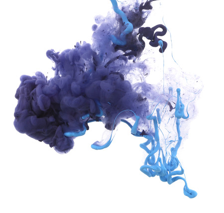 liquid splash: Acrylic colors and ink in water. Abstract background.