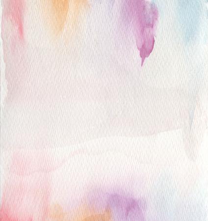 Abstrait à l'acrylique et à l'aquarelle. Papier de texture.