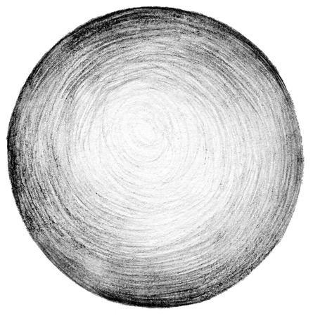 circle abstract: Abstract circle pencil scribbles background texture.