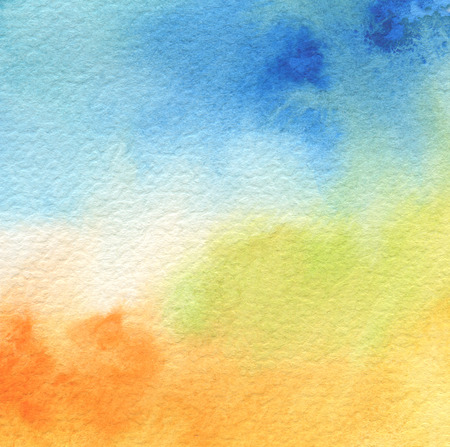 抽象的なアクリル、水彩画の背景に描かれています。テクスチャ ペーパー。