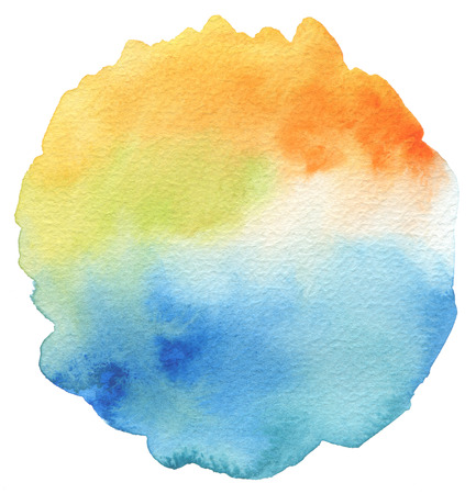 抽象的なアクリルや水彩塗装フレーム。テクスチャ紙の背景。