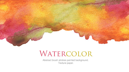 Abstract watercolor brush strokes painted background. Texture paper. 版權商用圖片 - 45335924