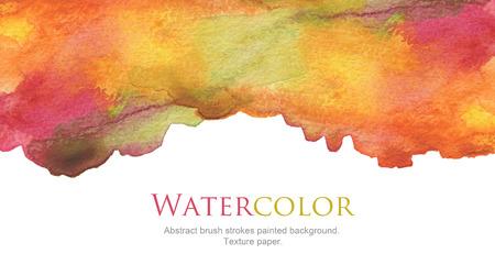 maleza: Resumen pinceladas de acuarela fondo pintado. la textura del papel.