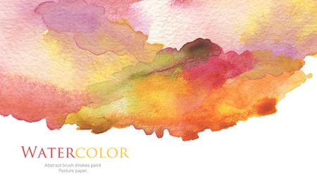 抽象的なアクリル、水彩ブラシのストロークの塗られた背景。テクスチャ ペーパー。 写真素材