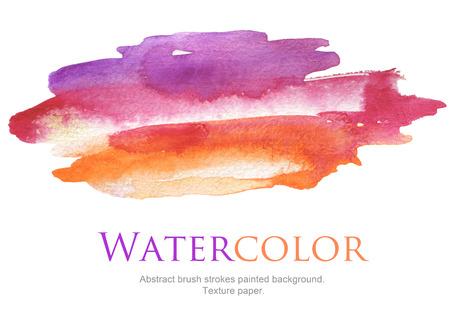 背景を描いた抽象的な水彩ブラシ ストローク。テクスチャ ペーパー。