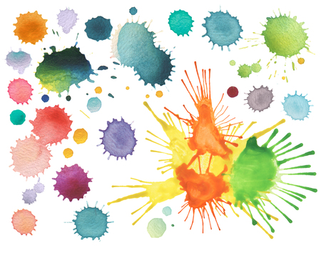 blots: abstract color watercolor blot isolated