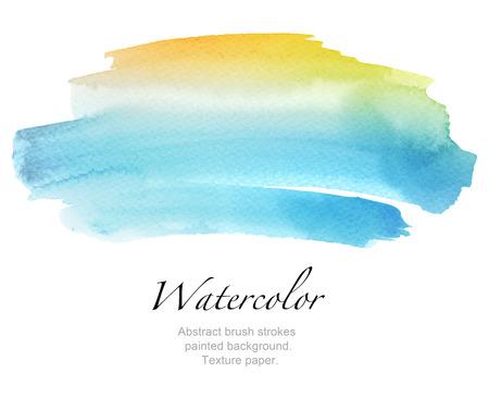 Abstract aquarel penseelstreken geschilderde achtergrond. Textuur papier. Stockfoto