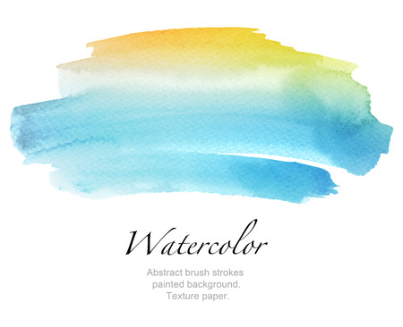 Abstract watercolor brush strokes painted background. Texture paper. Stock Photo - 49858726