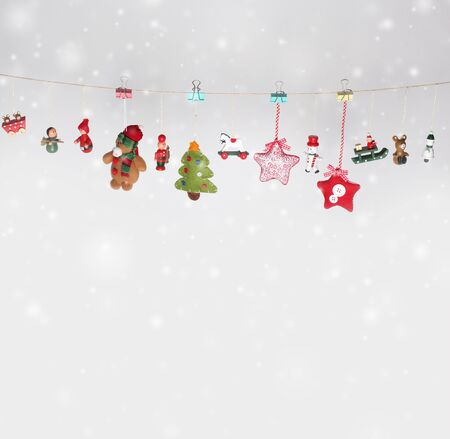 christmas garland: Christmas toys garland background