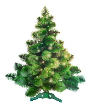 plastic christmas tree: Christmas tree isolated Stock Photo