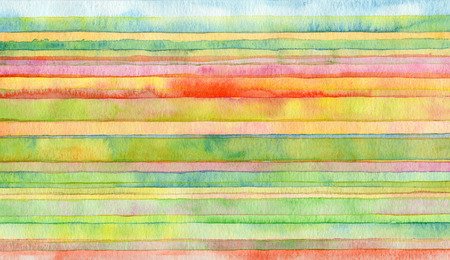 Abstract strip watercolor painted background. Stock Photo