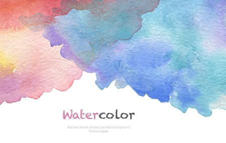 Acryl en aquarel penseelstreken geschilderde achtergrond. Textuur papier. Stockfoto