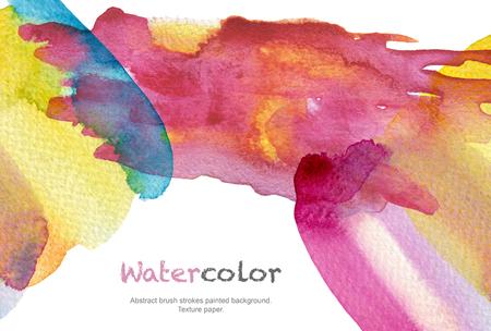 Abstrakte Acryl- und Aquarellbürstenanschläge malten Hintergrund. Texturpapier.
