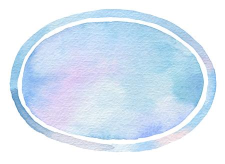 elipse: acuarela elipse fondo pintado. textura de papel. Foto de archivo