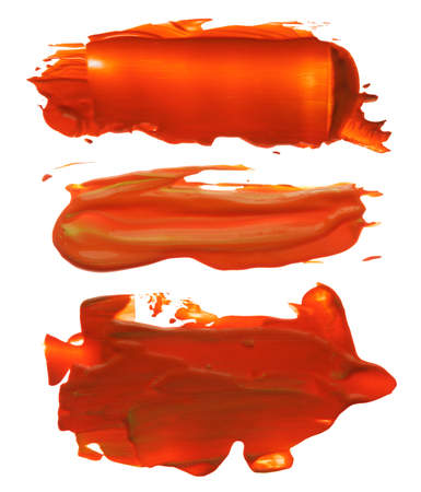 blots: collection of abstract acrylic brush strokes blots