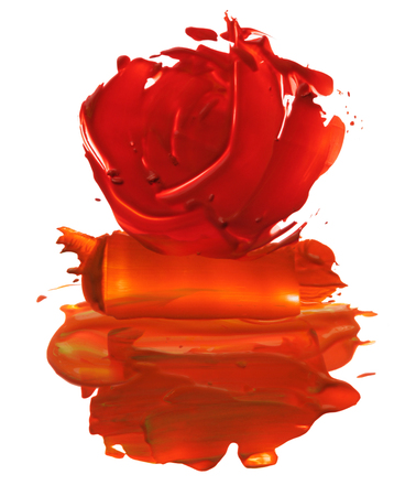 blot: abstract acrylic brush strokes blot