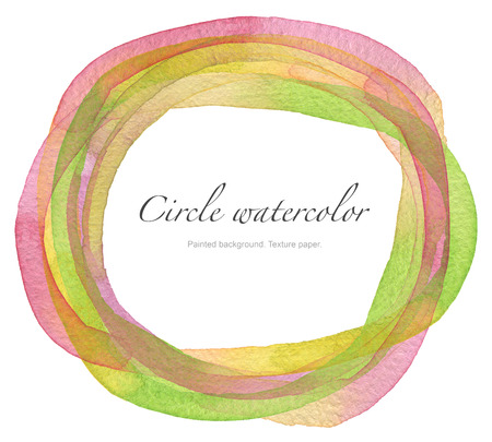 spot: Circle watercolor painted background. Texture paper.