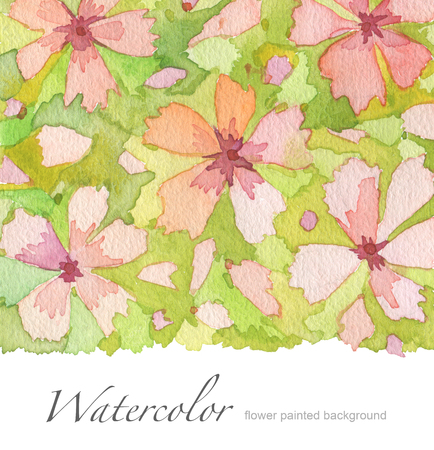 painted background: Acrylic and watercolor flower painted background.