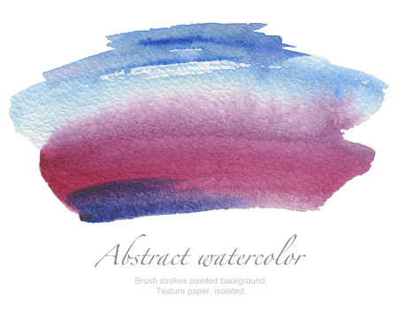 patches: Abstract watercolor brush strokes painted background. Texture paper. isolated.