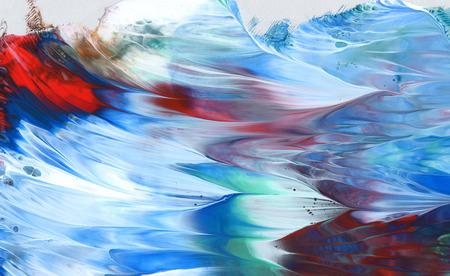 抽象的なアクリル、水彩ブラシのストロークの塗られた背景。