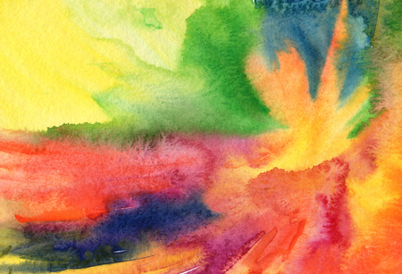 painted background: Abstract acrylic and watercolor painted background