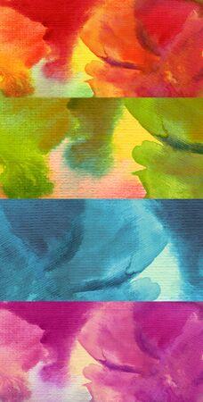 Verzameling van abstracte aquarel geschilderde achtergrond Stockfoto