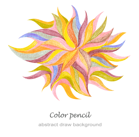 pencil drawing: Abstract color pencil draw background