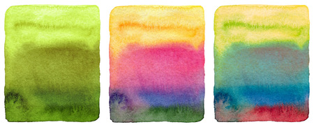 painting art: Abstract watercolor painted background. Grunge wet paper template. Collection. Isolated.