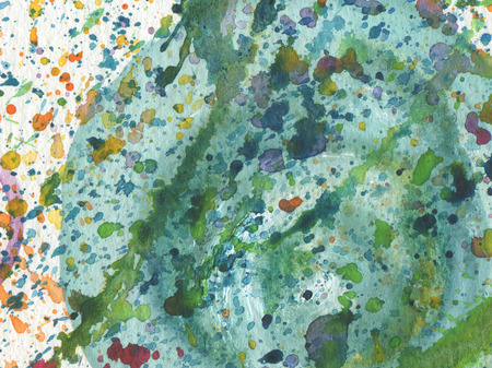 abstract paintings: Abstract watercolor background with blots. Paper texture. Stock Photo
