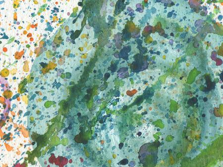 cuadros abstractos: Fondo de acuarela abstracta con borrones. textura de papel. Foto de archivo