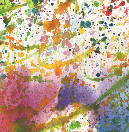 Abstract watercolor background with blots. Paper texture. Stock Photo
