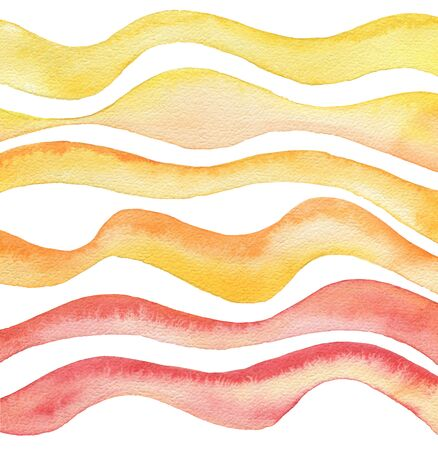 gouache: Abstract wave watercolor painted background. Paper texture. Isolated. Collection.