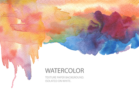 Abstract watercolor blot painted background. Texture paper. Isolated. Business card template. Standard-Bild