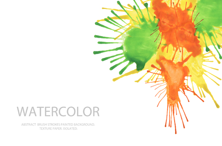 cutaway drawing: Abstract watercolor blot painted background. Texture paper. Isolated. Business card template. Stock Photo