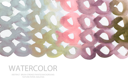 cutaway drawing: Abstract watercolor circle painted background. Texture paper. Isolated. Business card template.