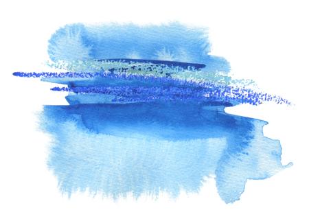 Abstracte waterverfvlek geschilderde achtergrond. Textuur papier. Geïsoleerd.