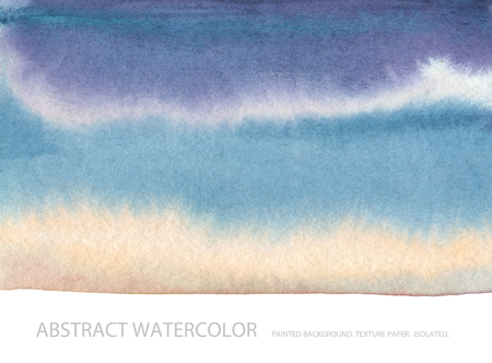 Abstract watercolor blot painted background. Texture paper. Isolated. Business card template. Stock Photo
