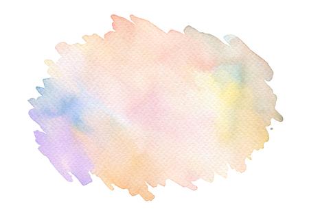 抽象的なアクリル、水彩ブラシのストロークの塗られた背景。テクスチャ ペーパー。分離されました。