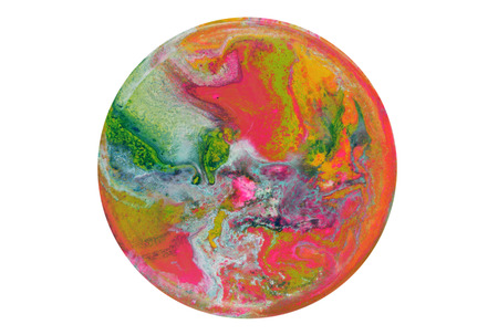 Colorful circle blots. Abstract background. Marble texture. Acrylic colors.