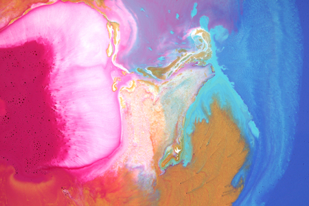 Colorful blots. Abstract background. Marble texture. Acrylic colors. Stock Photo
