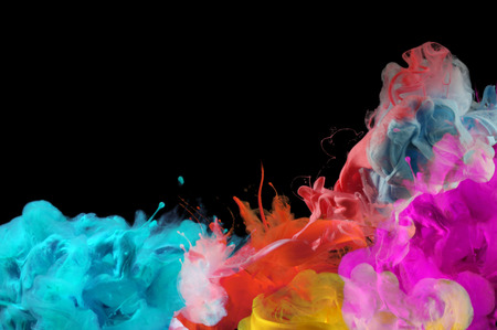 Acrylic colors in water. Ink blot. Abstract background.  Stock Photo