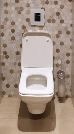 Toilet bowl in modern bathroom Stock Photo