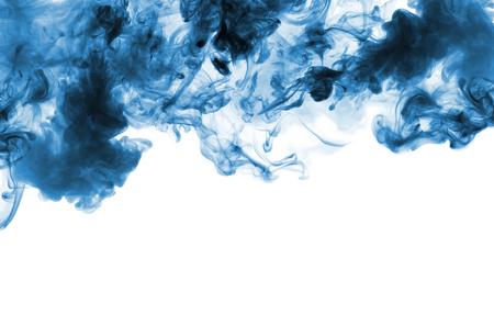 Blue smoke isolated on white background