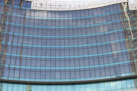 Glass window architecture build background