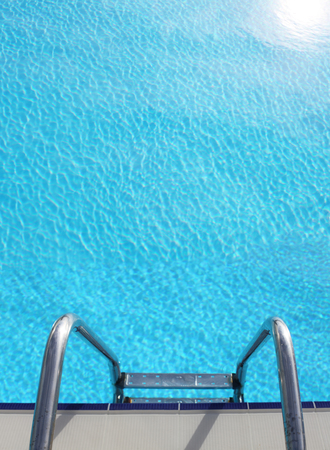Ladder to the blue pool