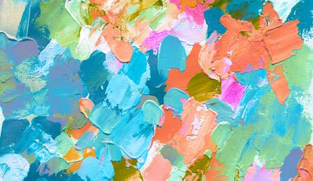 Abstract �color acrylic and watercolor painting. Canvas texture background.