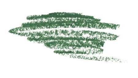 Grüne Ölpastellstrichbeschaffenheit auf weißem Hintergrund. Isoliert.