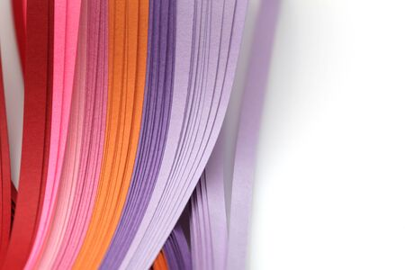Abstract gradient rainbow color wave curl strip paper background. Template for prints, posters, cards.