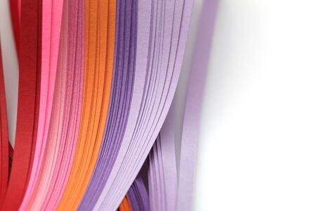Fondo abstracto del papel de la tira del rizo de la onda del color del arco iris de la pendiente. Plantilla para impresiones, carteles, tarjetas.